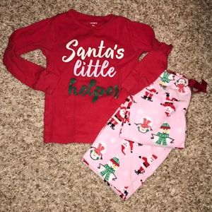 Carter's holiday 2 piece pajama set, 3T